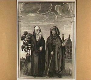 Maria en Jozef zoeken Christus na het paasfeest in Jeruzalem (detail van het middenpaneel)