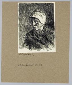 Portret van een vissersvrouw