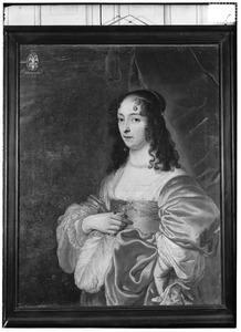 Portret van Agatha Hasselaer (ged. 1623-begr. 1658)