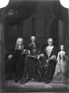 Portret van Joan Graefland en zijn gezin