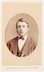 Portret van Andreas Antonius Adrianus Molhuysen (1821-1889)