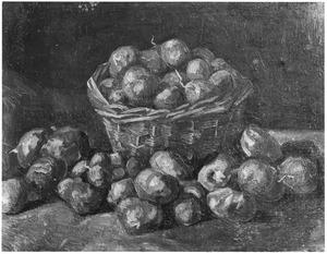 Stilleven van een mand met aardappels