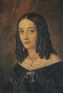 Portret van mogelijk Abrahamina Wilhelmina Senn van Basel (1818-1884)