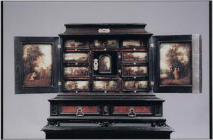 Kunstkabinet met Nieuw-testamentische scènes (verschijningen, wonderen en gelijkenissen van Christus)
