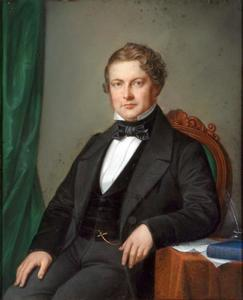Portret van Jan Willem van Loon (1816-1876)