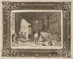 Boeren in een stal