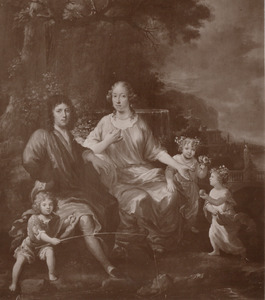 Portret van de familieJohannes van de Klaver (1641-1694), Elisabeth Paris (1652-1709) enMaria van de Klaver (1675-1749)