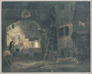 Interieur van een smederij