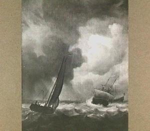 Verschillende schepen op woelig water