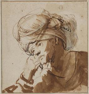 Studie van een mannenhoofd met een tulband