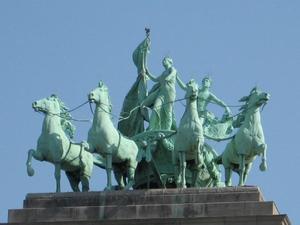 Arc de Triomphe voor het vijftigjarig bestaan van België