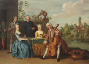 Portret van Jacob-Johannes Cremers (....-1762) en Cornelia Johanna Nicolai (....-1786) tijdens hun huwelijk