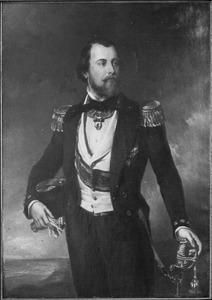 Portret van Koning Willem III der Nederlanden (1817-1890) in admiraalstenue