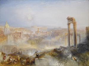 Gezicht op het Campo Vaccino (Forum Romanum) in Rome
