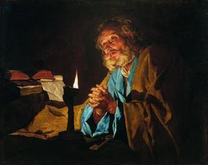 De heilige Petrus in gebed