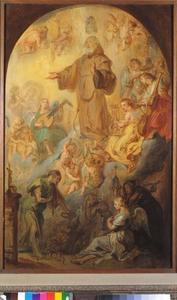 De Heilige Franciscus a Paola ten hemel opgenomen