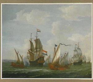 Zeeslag tussen Hollandse schepen en Turkse galeiën