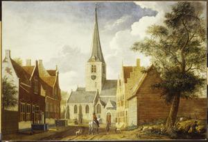 De Oude Kerk van Rijswijk gezien vanuit de Kerklaan