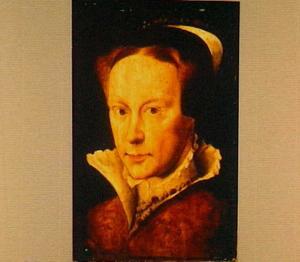 Portret van Maria Tudor, koningin van Engeland (1516-1558), later echtgenote van Filips II, koningin van Spanje