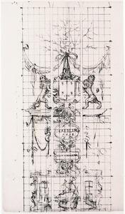 Ontwerp voor een glas-in-lood raam met de verovering van Damiate in 1219