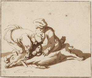 Het slachten van ean varken