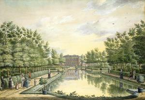 De voorzijde van de hofstede Brittenrust bij  Alphen aan de Rijn