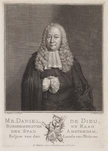Portret van Daniel de Dieu (1696-1765)