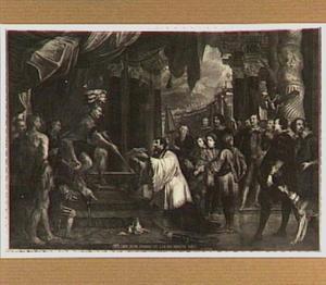 De H. Franciscus Xaverius legt zijn zending uit aan de vorst van  Bungo