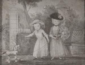 Dubbelportret van Kenau Catharina Wilhelmina Gevers Deynoot (1764-1771) en Willem Theodore Gevers Deynoot (1767-1819)