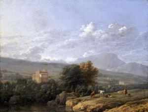 Zuidelijk landschap met vee