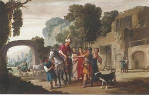 Cincinnatus wordt tot dictator uitgeroepen door een delegatie van Romeinen