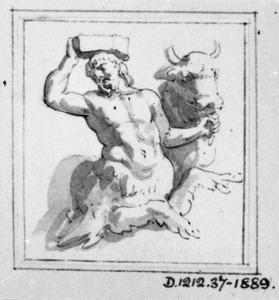 Centaur met een stier