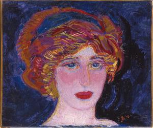 Portret van Greet, met haarband