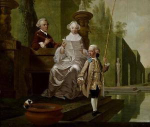 Portret van de familie van Isaac Hubert (1725-1798)