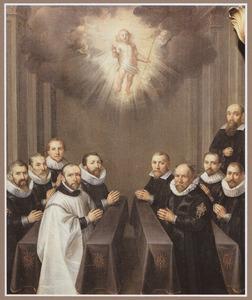 Portret van de bestuursraad van de broederschap van de H. Naam van Jezus te Leuven