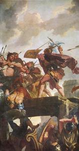 Horatius Cocles verdedigt zich op de brug