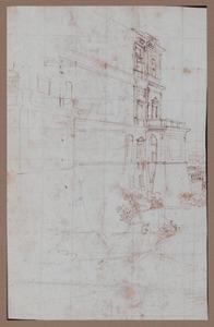Gedeelte van de linker gevel van Palazzo Farnese te Caprarola