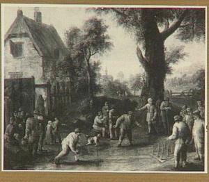 Kegelaars bij een herberg