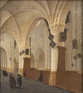 Het interieur van de St. Bavokerk te Haarlem