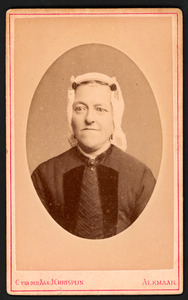 Portret van Huiberta V. Dekker (1840-1906)
