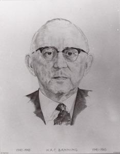 Portret van Hendrikus Adriaan Constant Banning (1900-1970)