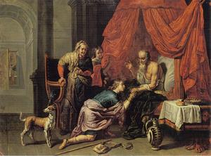 Jacob ontsteelt Esau Isaaks vaderlijke zege (Genesis 27:27)