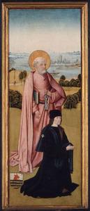De H. Petrus met Pieter van Os (buitenzijde: De H. Johannes de Evangelist met Franco van Langhel en diens zonen)
