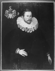 Portret van een man, mogelijk uit de familie van der Vecht