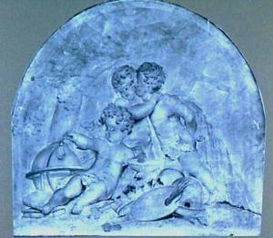 Allegorische voostelling met drie putti
