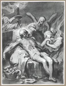 Christus door drie engelen beweend