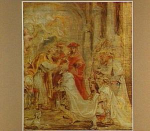 De kroning van Hendrik van Navarra-Bourbon tot Hendrik IV te Chartres