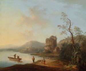 Italianiserend rivierlandschap