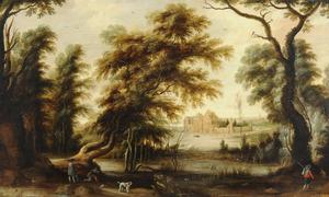 Bebost landschap met Kasteel Tervuren op de achtergrond