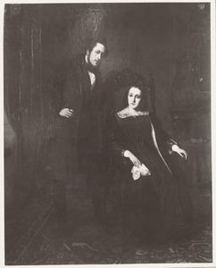 Dubbelportret van Bartholomeus Willem Wttewaall (1807-1890) en Maria Cornelia Hartevelt (1816-1894)